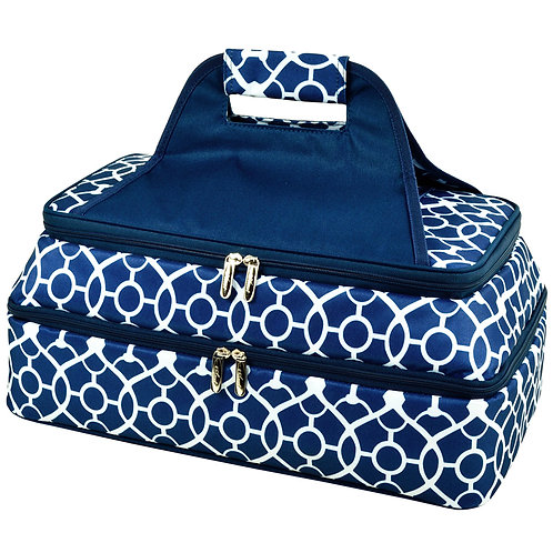 Trellis Blue 2 Layer Hot/Cold Food Carrier
