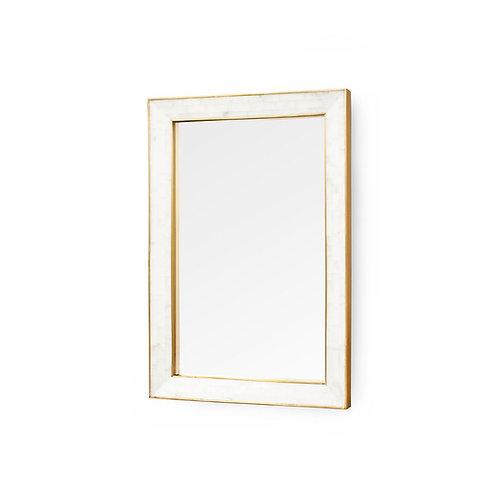 Leighton White Marble Mirror