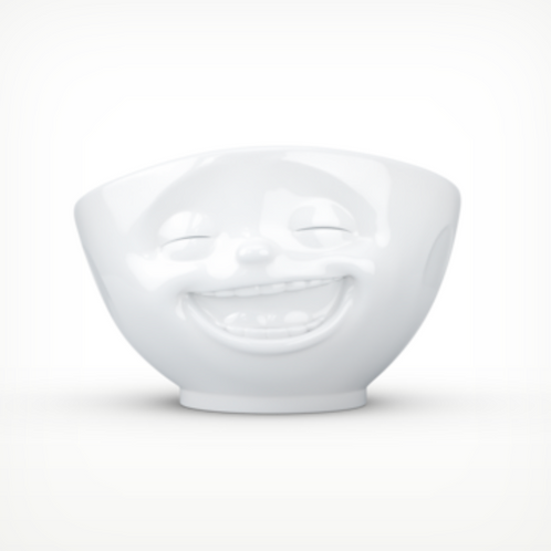 """Laughing"" White Bowl 500ml"