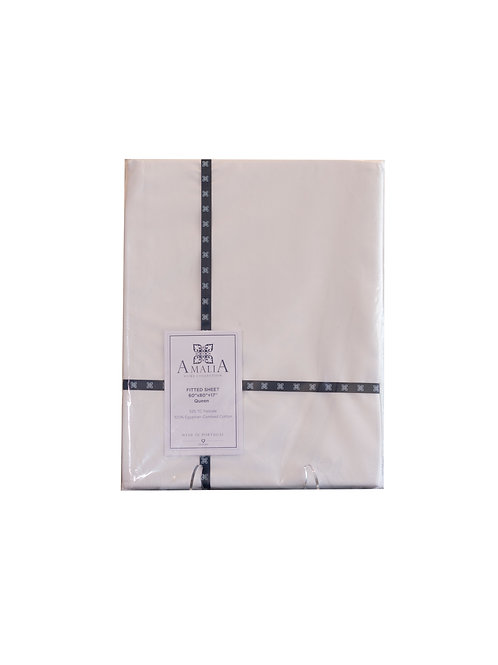 100% Egyptian Cotton Queen Fitted Sheet 525TC
