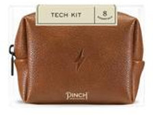 Cognac Brown Mini Tech Kit