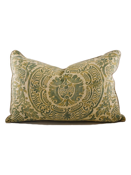 Pair of Fortuny Sulphur Green Pillows