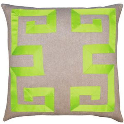 Pair of Square Feathers Empire Ribbon Pillows