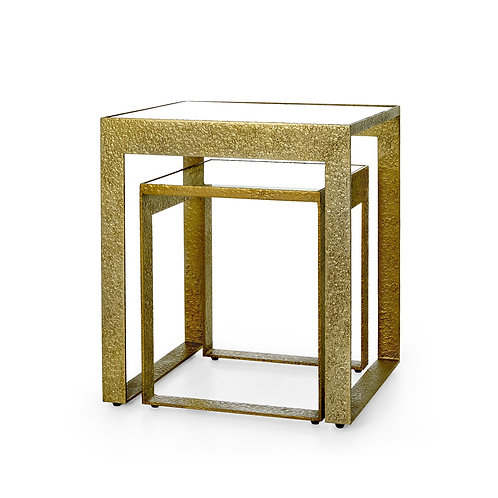 Champagne Bronze Plano Nesting Tables
