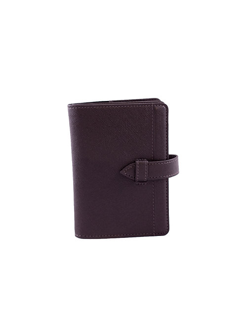 Worldly Black Leather Passport Holder