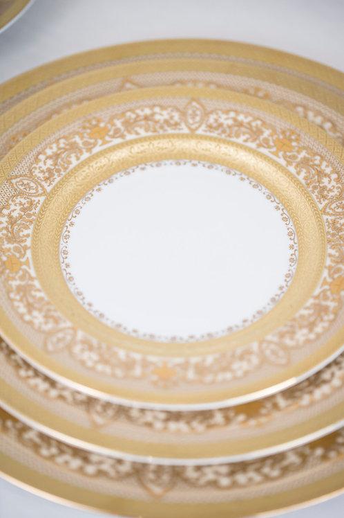 6 Piece Set Majestic Cream Fine China by Ceylan