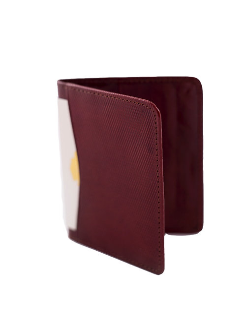 Maroon Leather Business or CC Holder