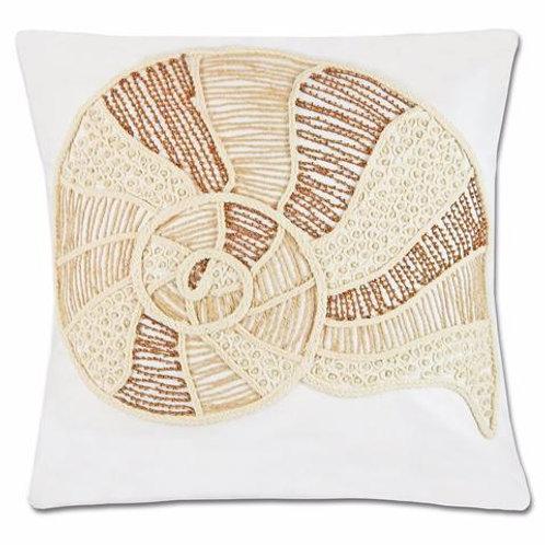 Pair of White Rene Shell Pillows