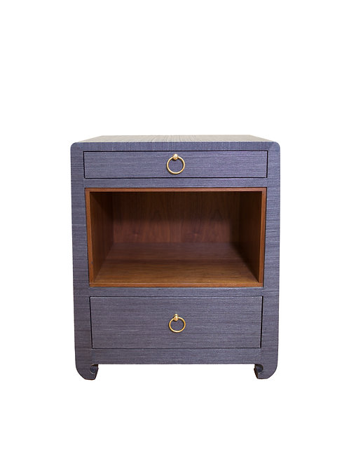 Ming 2-Drawer Blue Side Table