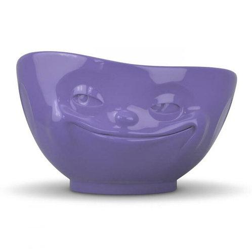 """Grinning"" Purple Bowl 500ml"