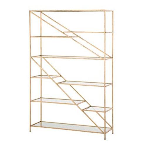 Ingram Gold Leaf & Glass Bookshelf