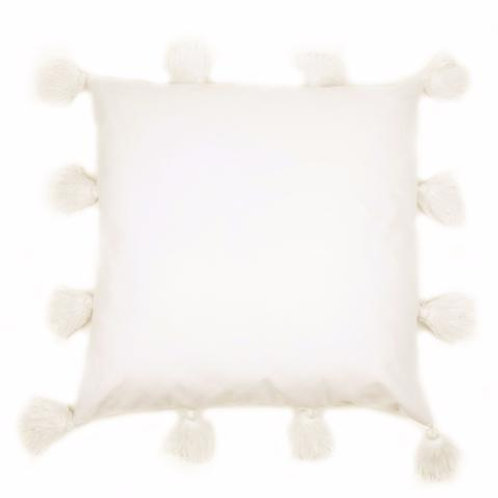 Pair of Ivory James Tassel Pillows