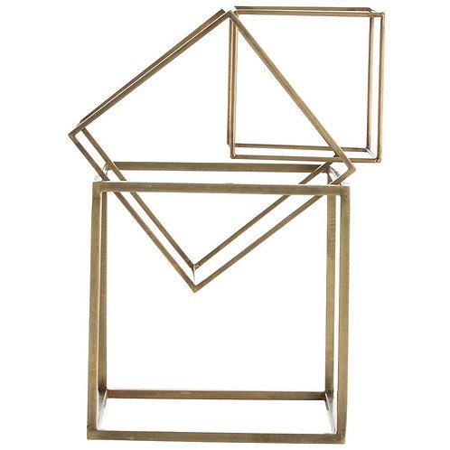 McCoy 3 Piece Brass Sculpture