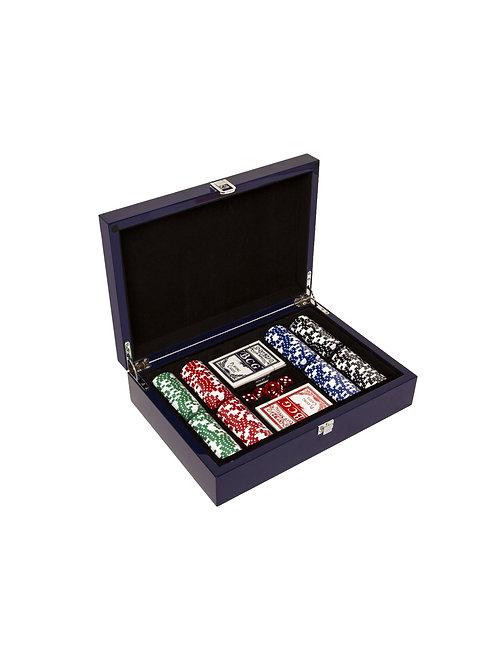 Carbon Fiber 200 Chip Poker Box Set