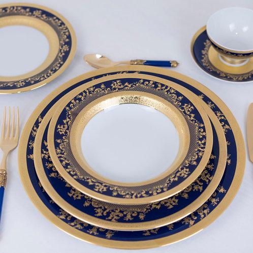 6 Piece Set Royal Colbalt Fine China by Ceylan