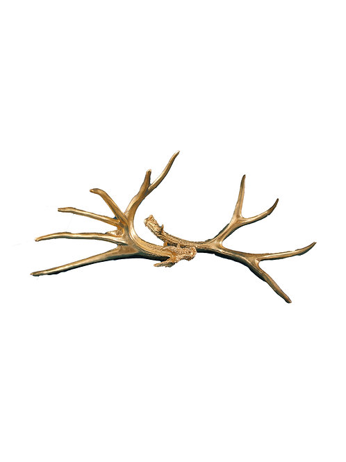 Gorgeous Pair of Acrylic Golden Antlers