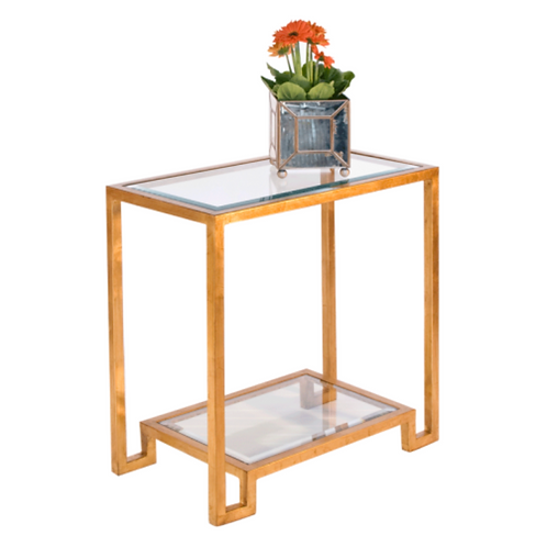 The Domino Gold Leaf Side Table