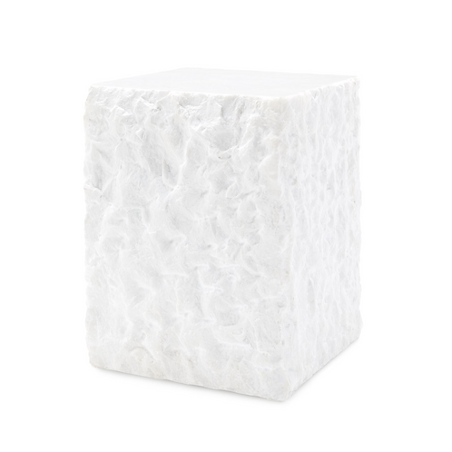 Calcutta White Marble Side Table