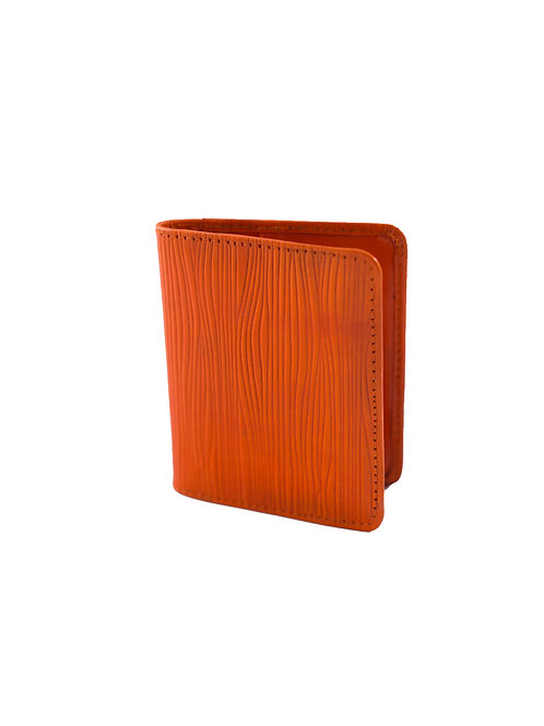 Orange Leather Business or CC Holder