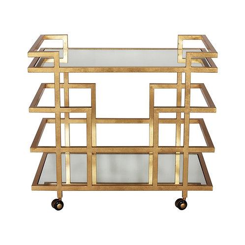 Ireland Gold or Silver Leaf Bar Cart