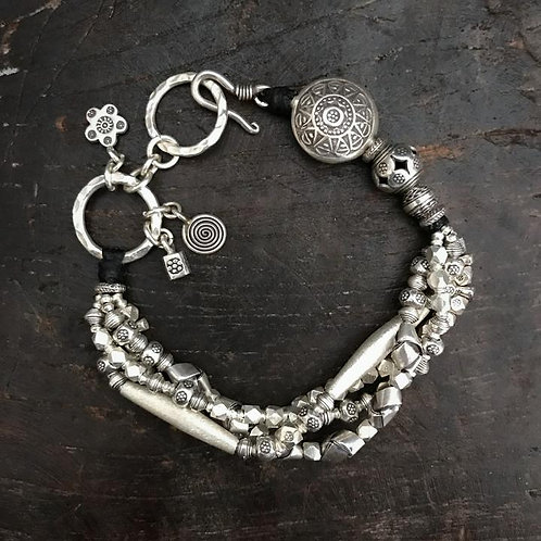 Silver Heaven & Earth Bracelet