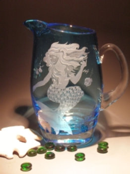 54oz Crystal Mermaid Pitcher