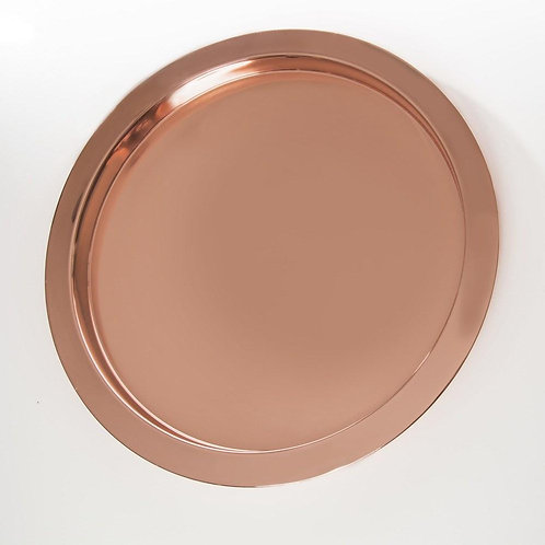 Round Copper Serving Tray