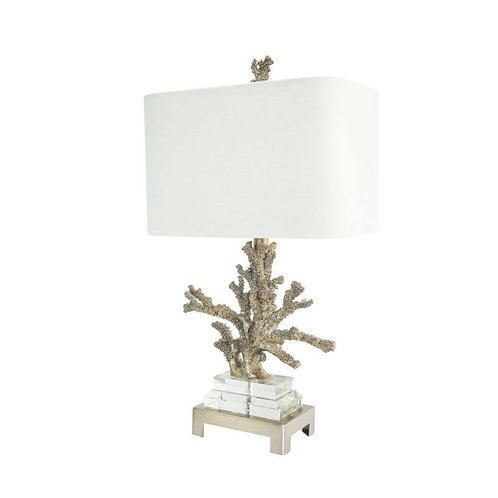 "25.5"" Silver Coral Table Lamp"
