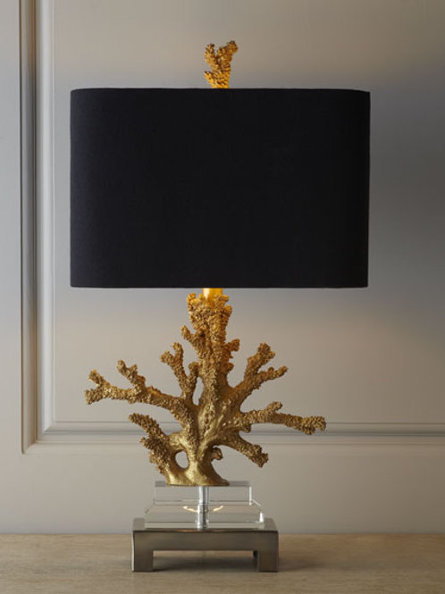 "25.5"" Gold Coral Table Lamp"