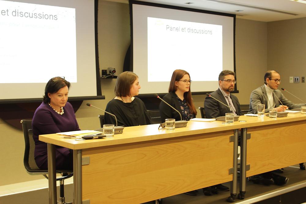 Hélène V. Gagnon, Stéfanie Rondou-Pontbriand, Isabelle Provost-Aubin, Patrick Faubert et Malek Kacem