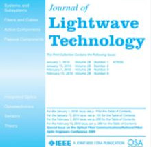 SA²GE cité dans le Journal of Lightware Technology