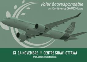 Ne manquez pas la conférence GARDN, Voler écoresponsable, les 13 et 14 novembre prochains