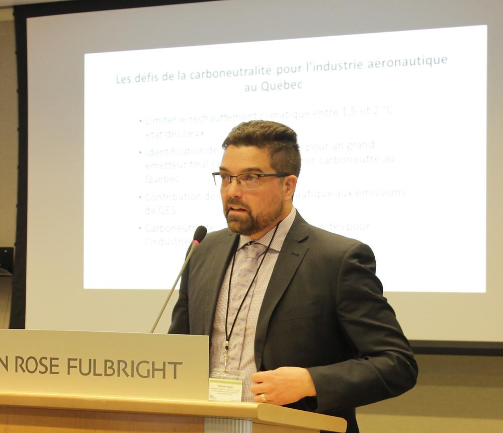 M. Patrick Faubert, professeur chercheur sous octroi à la Chaire en éco-conseil et au Centre de recherche sur la boréalie du Département des sciences fondamentales de l'Université du Québec à Chicoutimi