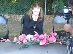 """On Campus Filming """"Funeral Scene"""""""