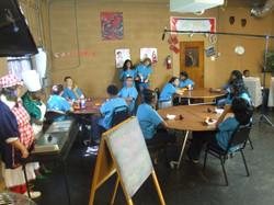 """Suspended"" Cafeteria Scene"