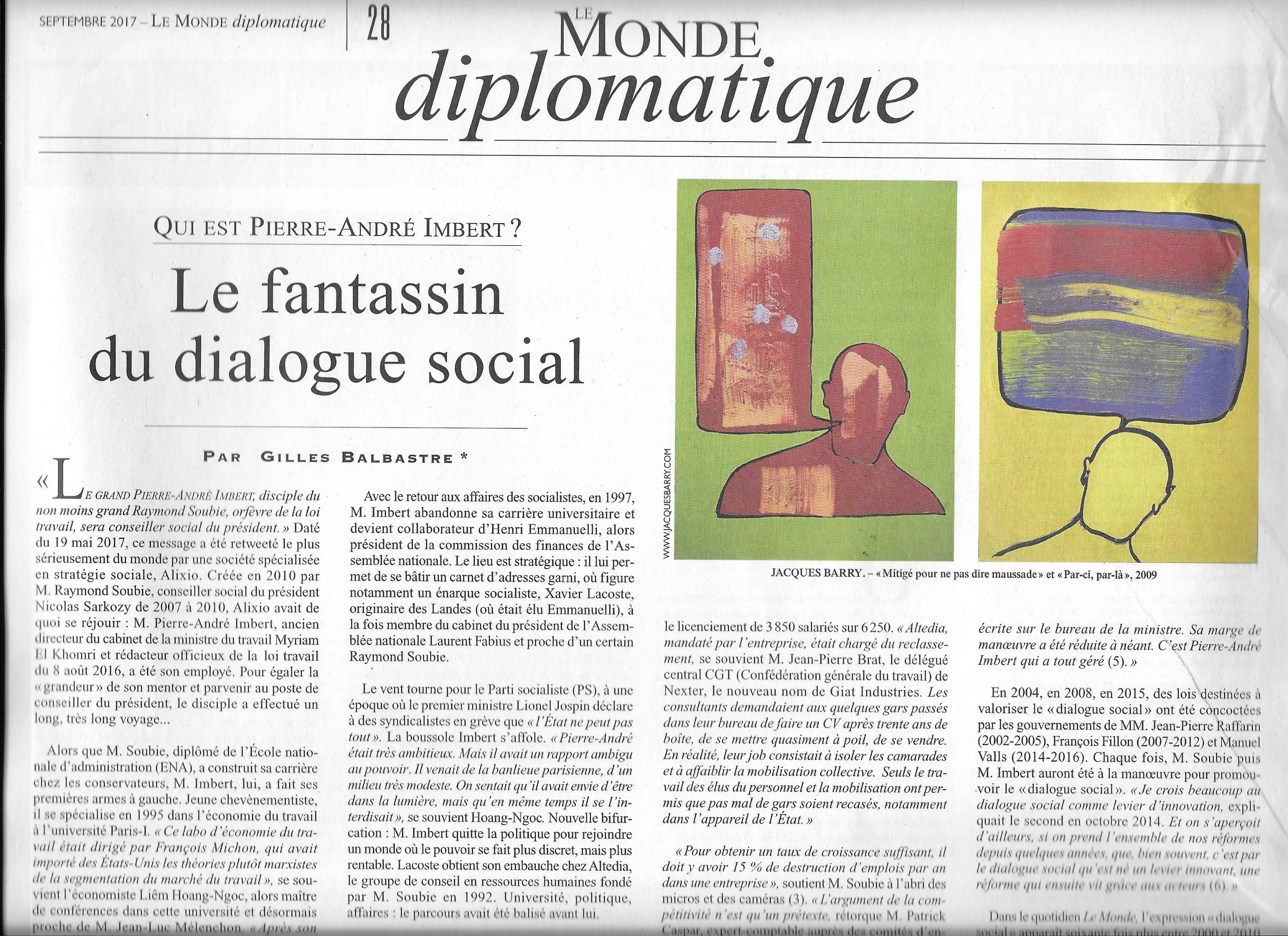 Illustration d'article de journal