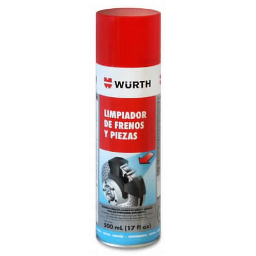 Spray Limpiador De Frenos De Disco Y Tambor Wurth 500 Ml