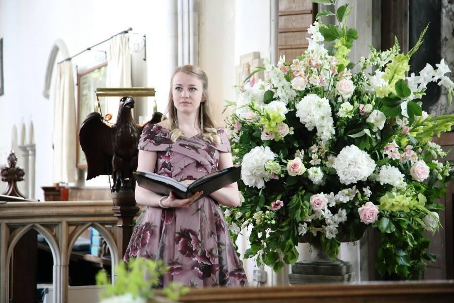 Singing in a wedding