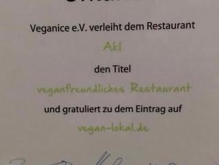 Veganice Urkunde für Akl