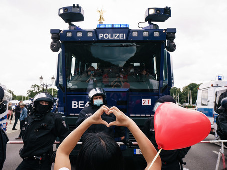 5,00 protest COVID-19 restrictions in Berlin