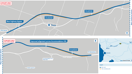 New Sturt Highway Truro &  Accommodation Hill route concepts released