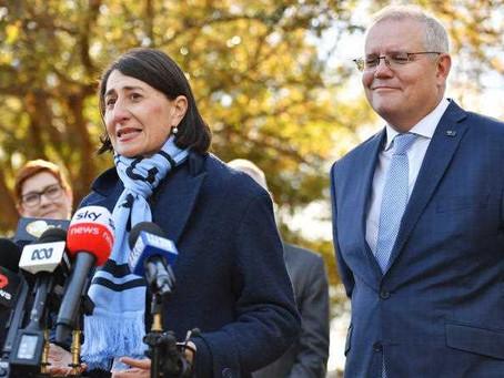 Morrison lauds resigning NSW premier Berejiklian