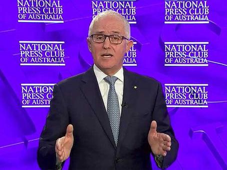 Malcolm Turnbull slams Scott Morrison at the Press Club