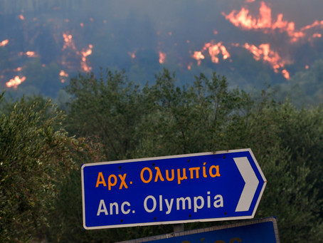 Olympia threatened by Greek fires