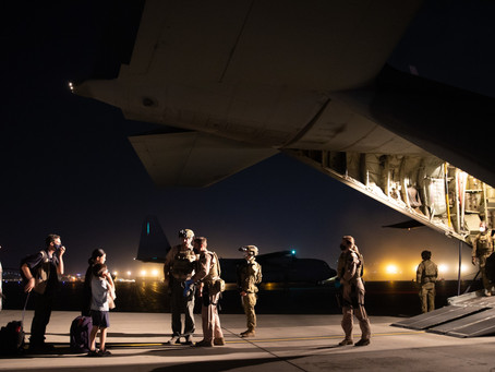 The Afghan airlift has started