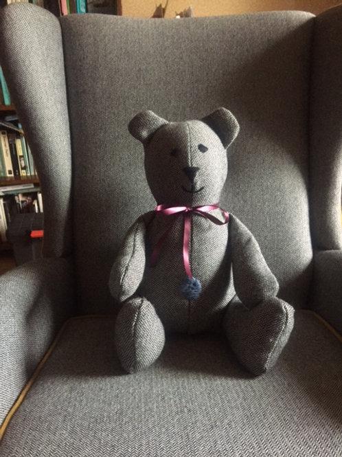 Bespoke 100% wool handmade teddy bear