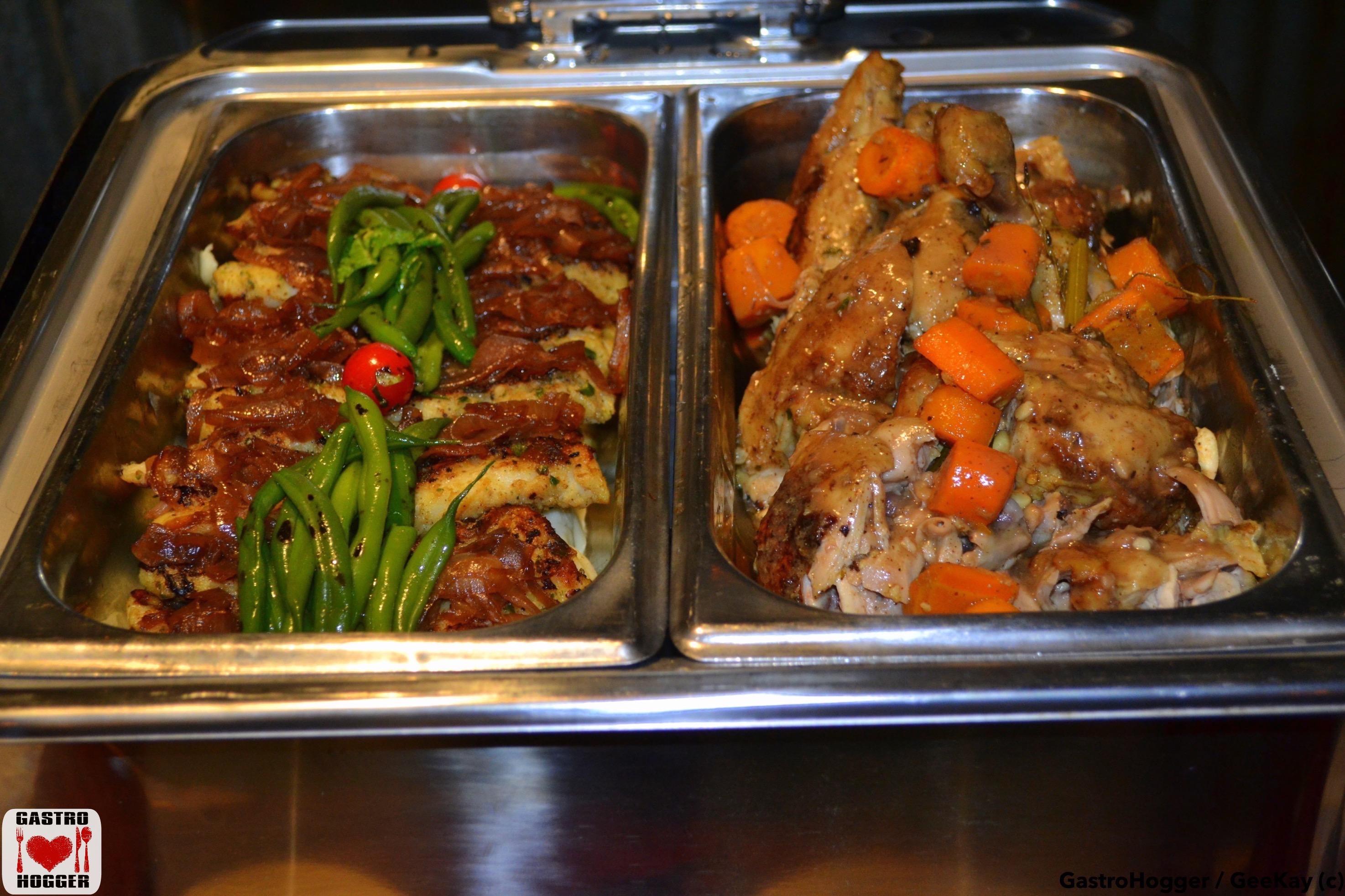 Poched Baha & Roast chicken