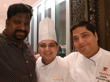 With Chef Dharmendar and Chef Vijay