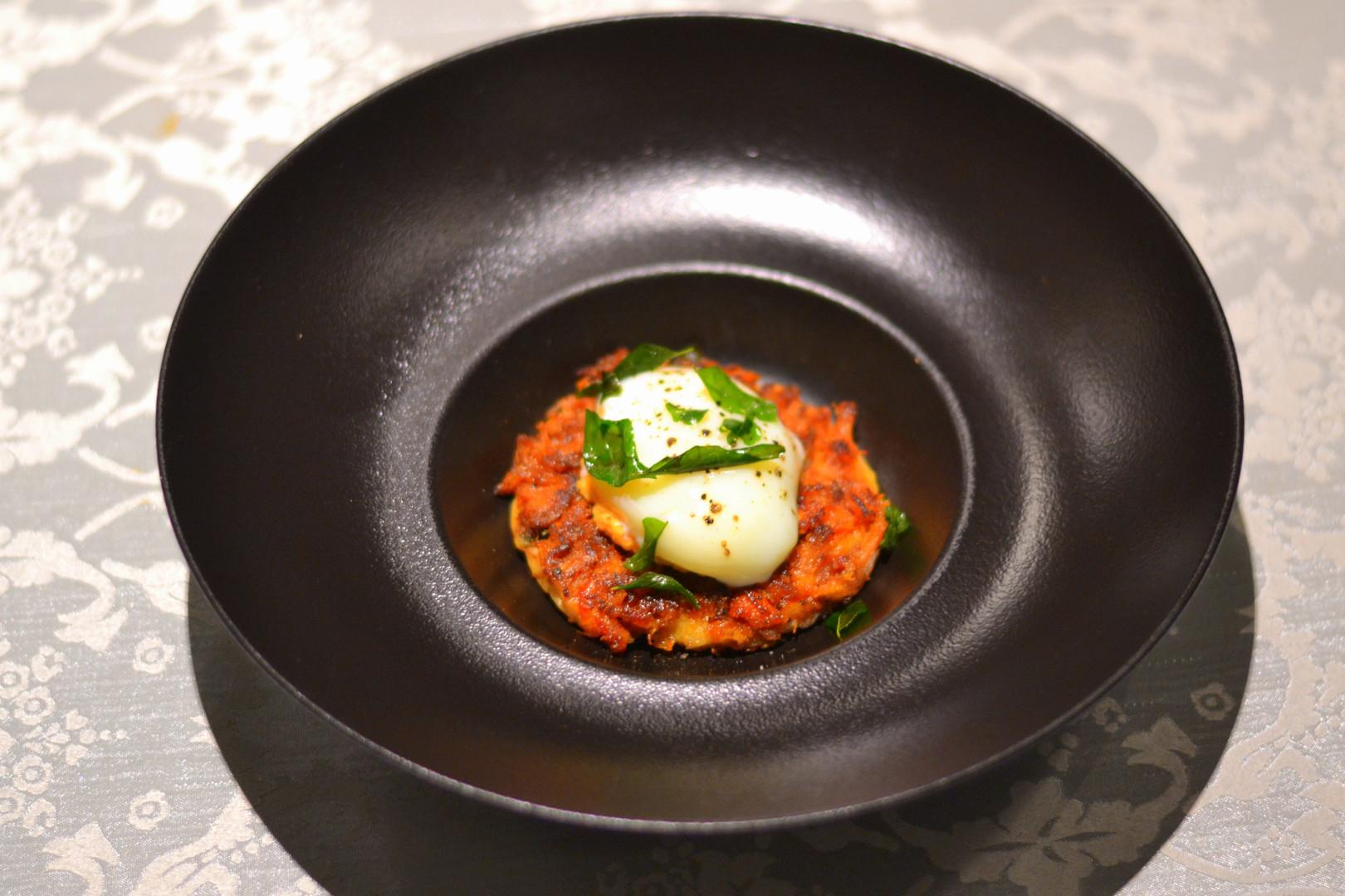 Chicken Kari Dosa with 63 deg Egg