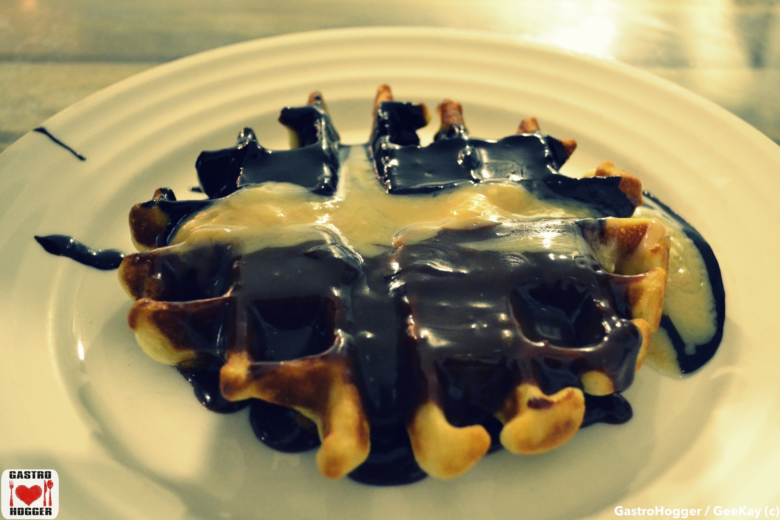 Tri Chocolate Waffle